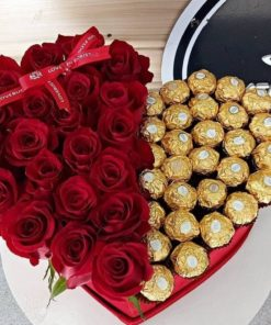 Vals Heart Roses and Ferrero Rocher 1