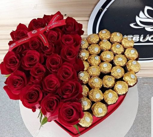 Vals Heart Roses and Ferrero Rocher 1